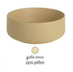 Раковина ArtCeram Cognac Countertop COL001 12; 00, накладная, цвет - giallo zinco (желтый цинк), 42 х 42 х 16 см