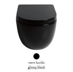 Подвесной унитаз ArtCeram File 2.0 FLV004 03; 00, цвет - черный глянцевый, безободковый
