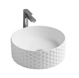 Раковина ArtCeram Esagono OSL013 01; 00, накладная, цвет - белый глянцевый, 40 х 40 х 14,5 см