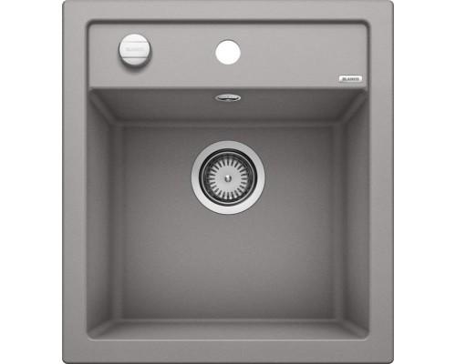 Раковина Blanco Dalago 45 517157, алюметаллик, с клапаном-автоматом, 46,5 x 51 см