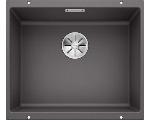 Мойка Blanco Subline 500-U, темная скала SILGRANIT с клапаном-автоматом