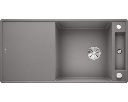 Мойка Blanco Axia III XL 6 S-F алюметаллик, доска ясень, c клапаном-автоматом InFino 523522