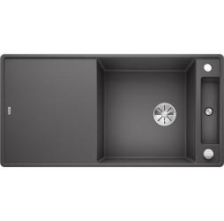 Мойка Blanco Axia III XL 6 S-F темная скала, доска стекло, c клапаном-автоматом InFino 523527