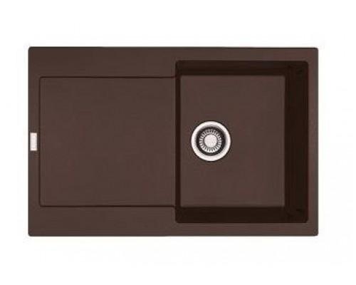 Мойка Franke MARIS MRG 611, 114.0198.471, гранит, установка сверху, оборачиваемая, цвет шоколад, 78*50 см
