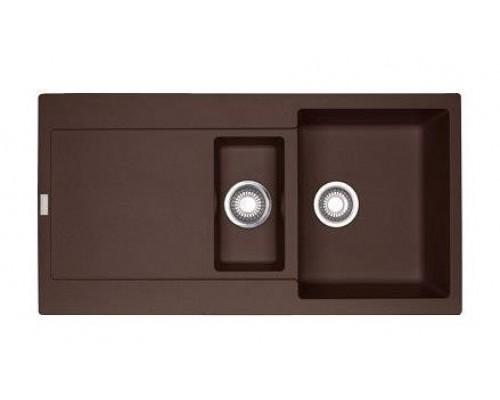 Мойка Franke MARIS MRG 651, 114.0198.476, гранит, установка сверху, оборачиваемая, цвет шоколад, 97*50 см