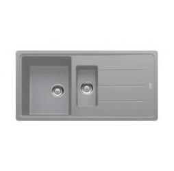 Мойка Franke BASIS BFG 651, 114.0259.965, гранит, установка сверху, оборачиваемая, цвет серый, 97*50 см