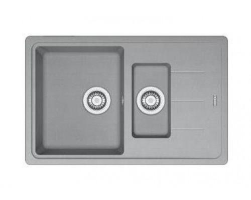 Мойка Franke BASIS BFG 651-78, 114.0280.897, гранит, установка сверху, оборачиваемая, цвет серый, 78*50 см