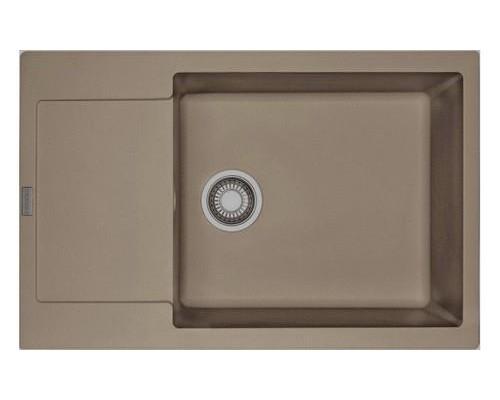 Мойка Franke MARIS MRG 610-58, 114.0313.266, гранит, установка сверху, цвет миндаль, 58,5*52 см