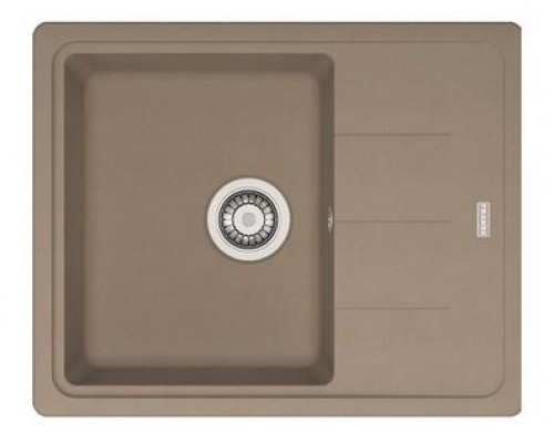 Мойка Franke BASIS BFG 611 C, 114.0313.334, гранит, установка сверху, оборачиваемая, цвет миндаль, 62*50 см