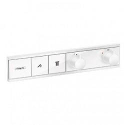 Смеситель для душа Hansgrohe RainSelect 15380700, 2 потребителя, термостатический, матовый белый