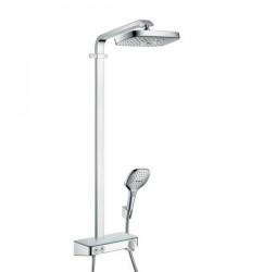 Душевая система Hansgrohe Raindance Select E 300 2jet ST Showerpipe EcoSmart 27283000, хром