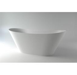 Ванна каменная Holbi Afina Solid Surface 161x66, белая матовая