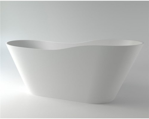 Ванна каменная Holbi Afrodita Solid Surface 161x68, белая матовая