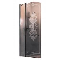 Душевая дверь в нишу Huppe Design victorian 90, левая хром прозрачная