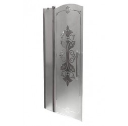 Душевая дверь в нишу Huppe Design victorian 90, левая хром матовая