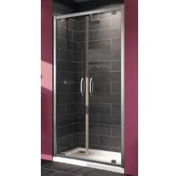 Душевая дверь в нишу Huppe X1 100x190, хром прозрачная распашная 100 см