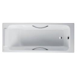 Чугунная ванна Jacob Delafon Parallel 150x70, с отверстиями для ручек