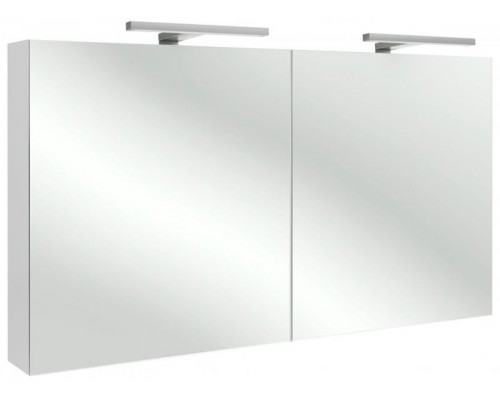 Шкаф зеркальный Jacob Delafon 120 см, EB1368-G1C, со светодиодной подсветкой, цвет - белый блестящий лак