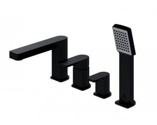 Смеситель Omnires Baretti BA7832BL для ванны на 4 отверстия, черный