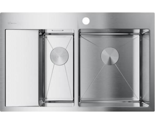 Мойка кухонная Omoikiri Akisame 78-2-IN-R 4973063 нержавеющая сталь