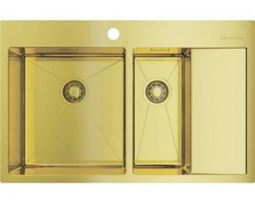 Мойка кухонная Omoikiri Akisame 78-2 LG-L 4973087 светлое золото