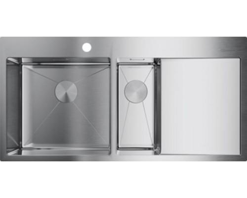 Мойка кухонная Omoikiri Akisame 100-2-IN-L 4973544 нержавеющая сталь