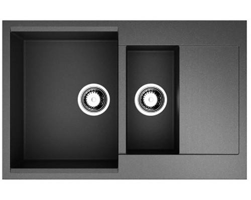 Мойка кухонная Omoikiri Daisen 78-2-BL artgranit/черный 4993334