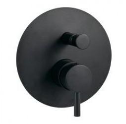 Встраиваемый смеситель для ванны с душем (черный матовый) Paffoni Light LIG015NO