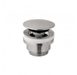 Донный клапан для раковины Paffoni ZSCA050ST click-clack нерж. сталь