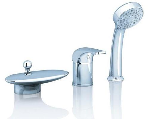 Врезной каскадный смеситель для ванны с душем Ravak Rosa RS 025,00