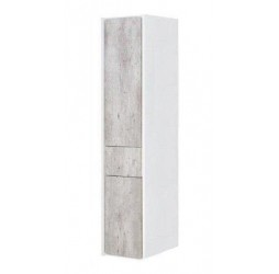 Пенал Roca Ronda 30 см подвесной, цвет бетон, белый глянцевый